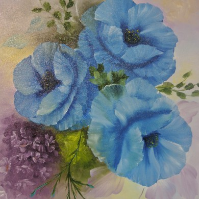 Pretty in blue, Jenkins Art