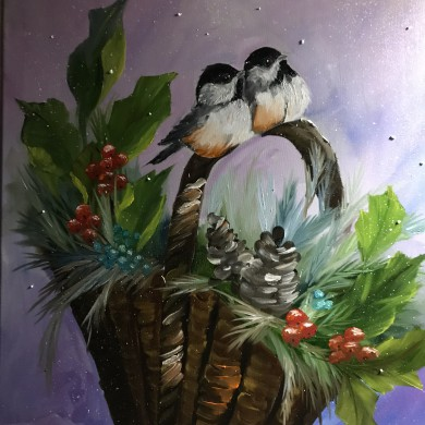 Chickadees/Bob Ross
