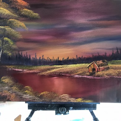 Evening at sunset/Bob Ross
